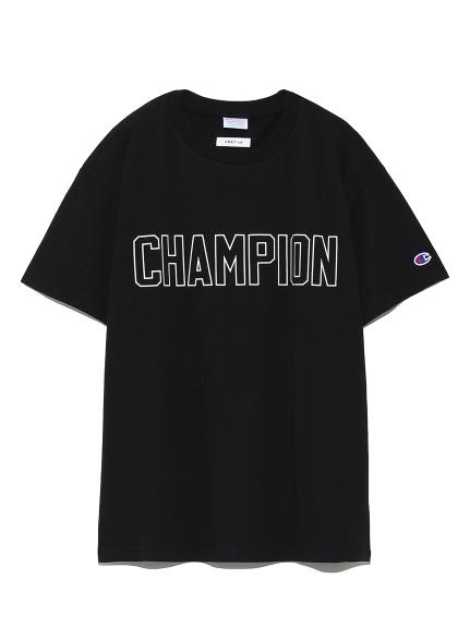 【FRAY I.D×Champion】ロゴTシャツ(BLK-F)