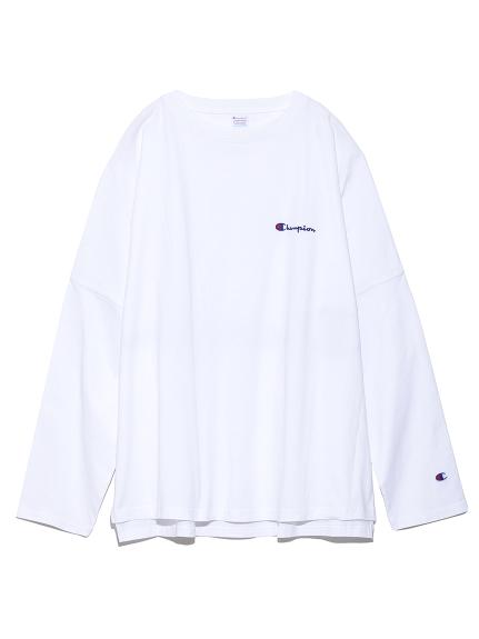 【FRAY I.D×Champion】バックプリントロングTシャツ(WHT-F)