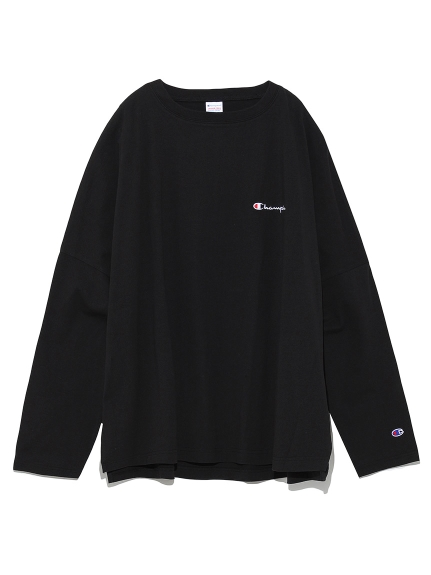 【FRAY I.D×Champion】バックプリントロングTシャツ(BLK-F)