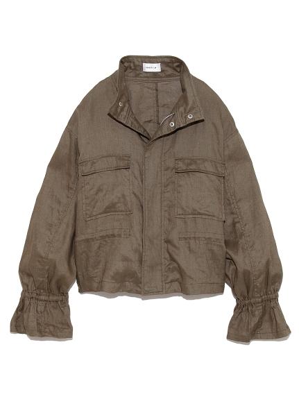 リネンショートジャケット(KKI-0)