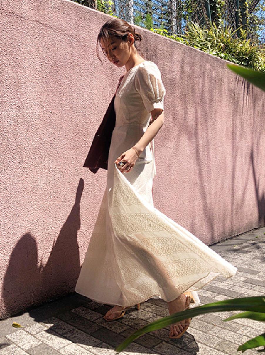 アイレット刺繍ドレス(BEG-0)