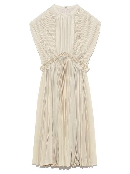 プリーツミニドレス