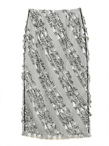 フリンジジャガードタイトスカート