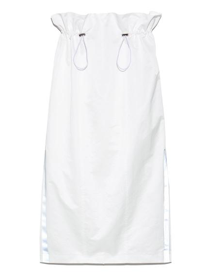 ドローストリングタフタスカート(WHT-0)