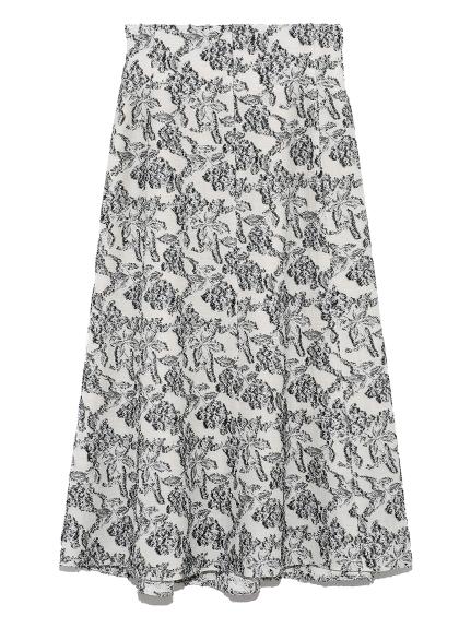麻混ジャガードスカート