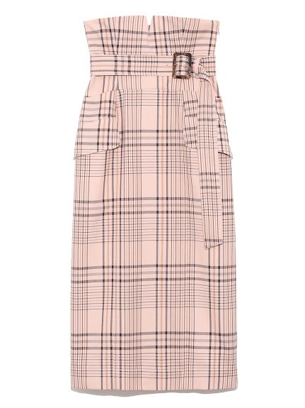 ハイウエストタイトスカート(CHECK-0)